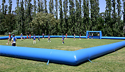 Huge inflatable soccer field